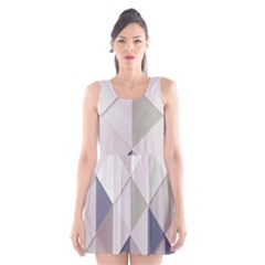 Background Geometric Triangle Scoop Neck Skater Dress