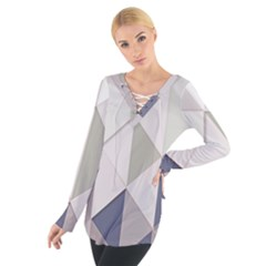 Background Geometric Triangle Tie Up Tee