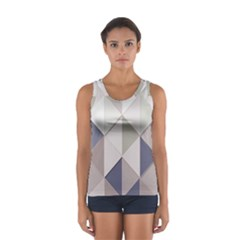Background Geometric Triangle Sport Tank Top