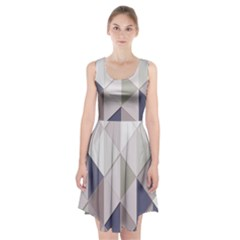 Background Geometric Triangle Racerback Midi Dress