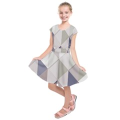 Background Geometric Triangle Kids  Short Sleeve Dress
