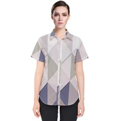Background Geometric Triangle Women s Short Sleeve Shirt