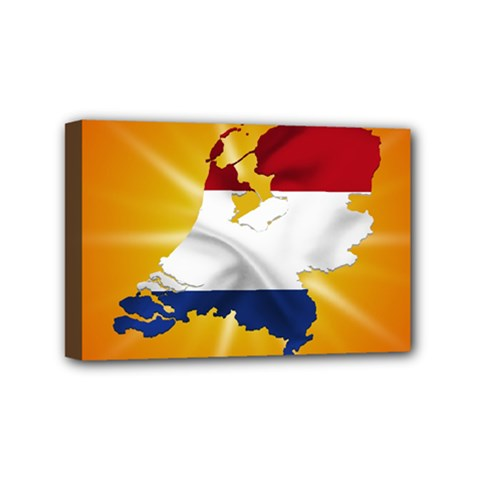 Holland Country Nation Netherlands Flag Mini Canvas 6  X 4