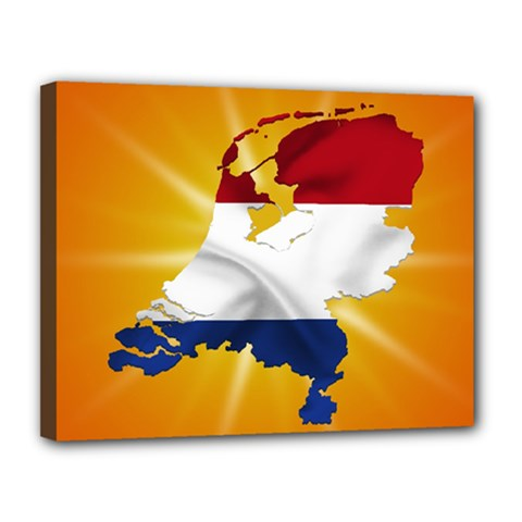 Holland Country Nation Netherlands Flag Canvas 14  X 11  by Nexatart