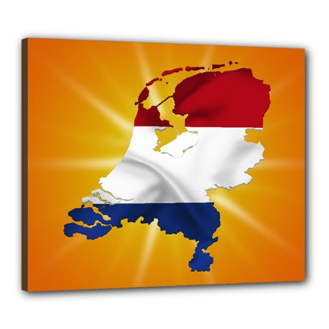 Holland Country Nation Netherlands Flag Canvas 24  X 20