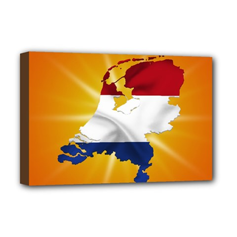 Holland Country Nation Netherlands Flag Deluxe Canvas 18  X 12