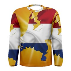 Holland Country Nation Netherlands Flag Men s Long Sleeve Tee