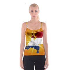 Holland Country Nation Netherlands Flag Spaghetti Strap Top