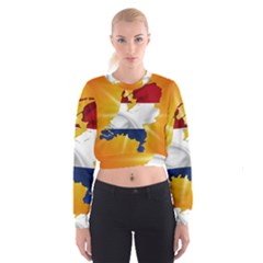 Holland Country Nation Netherlands Flag Cropped Sweatshirt