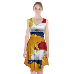 Holland Country Nation Netherlands Flag Racerback Midi Dress