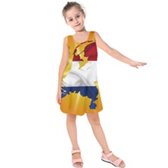 Holland Country Nation Netherlands Flag Kids  Sleeveless Dress