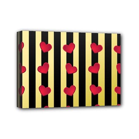 Love Heart Pattern Decoration Abstract Desktop Mini Canvas 7  X 5