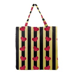 Love Heart Pattern Decoration Abstract Desktop Grocery Tote Bag