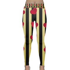 Love Heart Pattern Decoration Abstract Desktop Classic Yoga Leggings