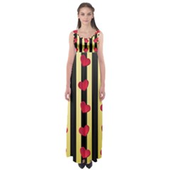 Love Heart Pattern Decoration Abstract Desktop Empire Waist Maxi Dress