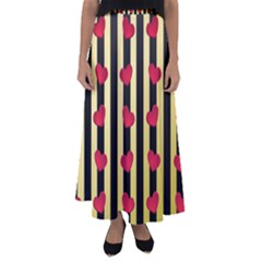 Love Heart Pattern Decoration Abstract Desktop Flared Maxi Skirt