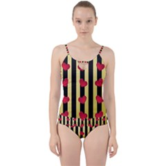 Love Heart Pattern Decoration Abstract Desktop Cut Out Top Tankini Set