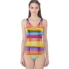 Art Background Abstract One Piece Swimsuit