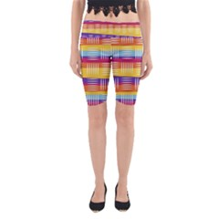 Art Background Abstract Yoga Cropped Leggings