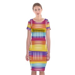 Art Background Abstract Classic Short Sleeve Midi Dress by Nexatart
