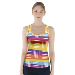 Art Background Abstract Racer Back Sports Top