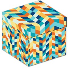 Geometric Retro Wallpaper Storage Stool 12