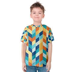 Geometric Retro Wallpaper Kids  Cotton Tee