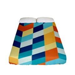 Geometric Retro Wallpaper Fitted Sheet (full/ Double Size)