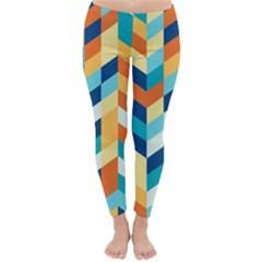 Geometric Retro Wallpaper Classic Winter Leggings