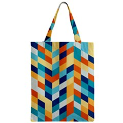 Geometric Retro Wallpaper Zipper Classic Tote Bag