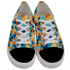 Geometric Retro Wallpaper Women s Low Top Canvas Sneakers