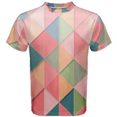 Background Geometric Triangle Men s Cotton Tee
