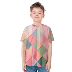 Background Geometric Triangle Kids  Cotton Tee