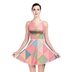 Background Geometric Triangle Reversible Skater Dress