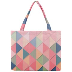 Background Geometric Triangle Mini Tote Bag