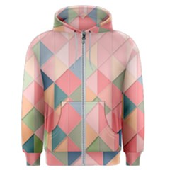 Background Geometric Triangle Men s Zipper Hoodie
