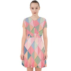 Background Geometric Triangle Adorable In Chiffon Dress