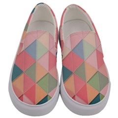 Background Geometric Triangle Men s Canvas Slip Ons