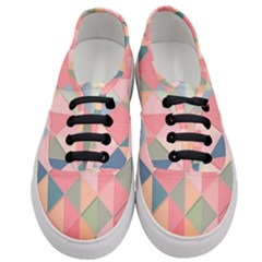 Background Geometric Triangle Women s Classic Low Top Sneakers