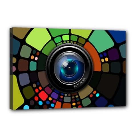 Lens Photography Colorful Desktop Canvas 18  X 12