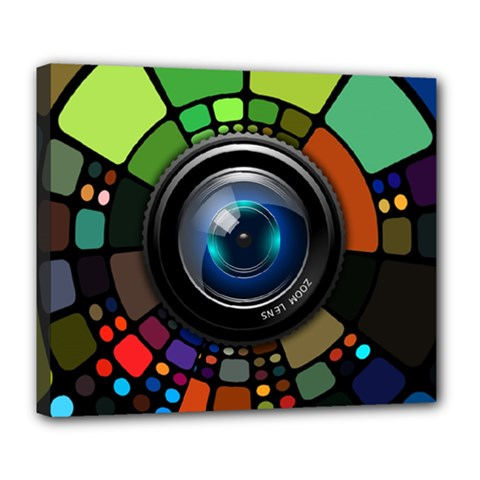 Lens Photography Colorful Desktop Deluxe Canvas 24  X 20