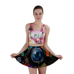 Lens Photography Colorful Desktop Mini Skirt