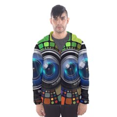Lens Photography Colorful Desktop Hooded Wind Breaker (men)