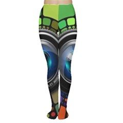 Lens Photography Colorful Desktop Women s Tights