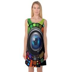 Lens Photography Colorful Desktop Sleeveless Satin Nightdress