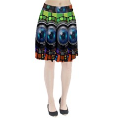 Lens Photography Colorful Desktop Pleated Skirt