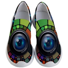 Lens Photography Colorful Desktop Women s Lightweight Slip Ons