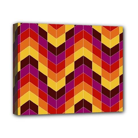 Geometric Pattern Triangle Canvas 10  X 8