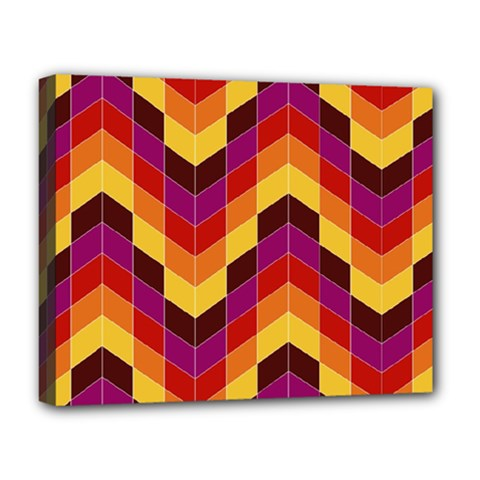 Geometric Pattern Triangle Deluxe Canvas 20  X 16