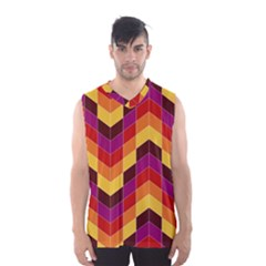 Geometric Pattern Triangle Men s Basketball Tank Top